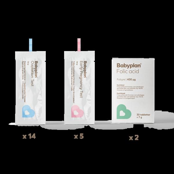Image of   Babyplan Testsæt – Strimmel test med folsyre