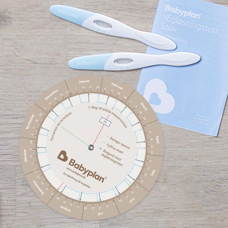 Babyplan ægløsningstest beregner hjul